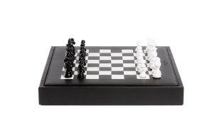 Hector Saxe Basile Buffalo Leder Backgammon Spiel | Medium | Cognac