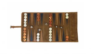 Hector Saxe Victor Travel Backgammon | Orange