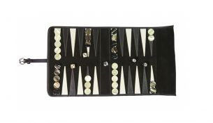 Hector Saxe Victor Travel Backgammon | Ebony