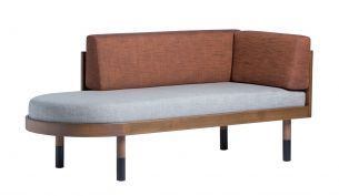 Kann Design mid corner Sofa grey brick red