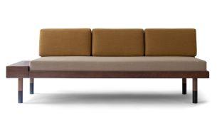 Kann Design mid straight Sofa beige ochre