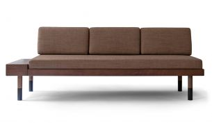 Kann Design mid straight Sofa brown