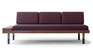 Kann Design mid straight Sofa burgundy