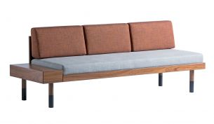 Kann Design mid straight Sofa grey brick red