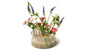 Klong Äng Big Messing mit Blumen