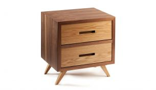 Mambo Unlimited Ideas Space Bedside Table two drawers