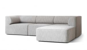 menu eave modular sofa city velvet 078 3-seater + pouf