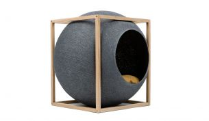 meyou the cube dark grey wood camel