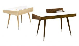 Naver Collection AK 1330 Desk oak and walnut