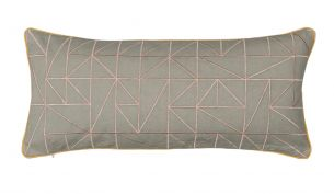 Niki Jones Linear 25x60 Dusky Pink / Dove Grey front