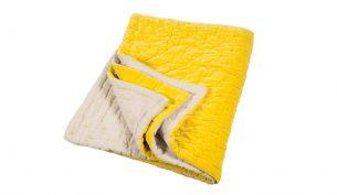 Niki Jones Velvet Linen Quilt | Chartreuse