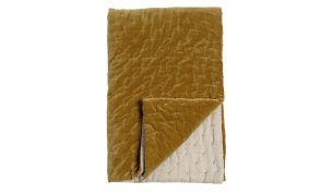 Niki Jones Velvet Linen Decke | Golden Lichen 230x260