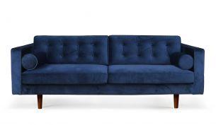 notre monde n101 sofa velvet blue
