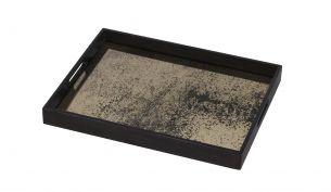 notre monde heavy aged bronze mirror rectangular 46x36x4cm