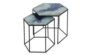 Notre Monde Cobalt Mist Organic Side Table Set