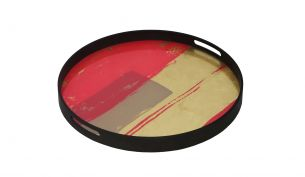 Notre Monde Raspberry Abstract Tray | S