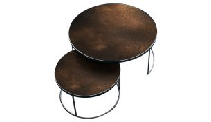 ethnicraft Nesting coffee Table Set bronze