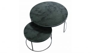 Notre Monde Nesting Side Table Set large anthrazite