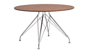 Overgaard & Dyrman Wire coffee table chrome walnut