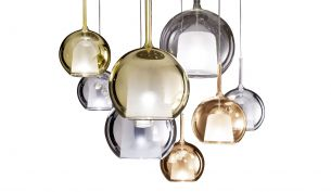 Penta Glo Pendant Lamp - small and large