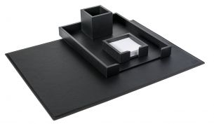 Pinetti Liverpool Desk-Set 4-teilig Schwarz