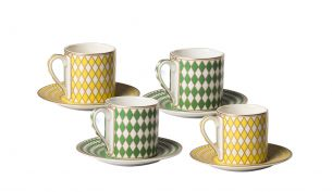 Pols Potten Chess 4er Espresso Set