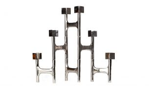 pols potten folding nickel square candle holder