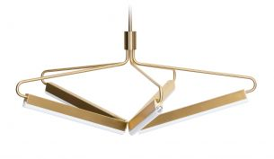 Rubn Angel 5 500 wide chandelier brass