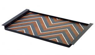 Serax Charles Tablett | Zigzag Schwarz