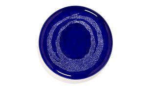 Serax Feast Servierteller 35 cm | Lapis Lazuli Swirl - Dots White