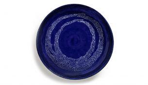 Serax Feast Servierplatte 36 cm | Lapis Lazuli Swirl - Dots White