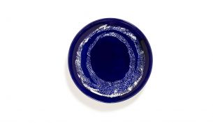 Serax Feast Teller S 19 cm | Lapis Lazuli Swirl - Dots White | 2Stk