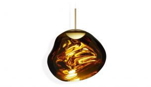tom dixon melt led pendant gold on