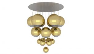 Tom Dixon Mirror Ball pendant 50cm gold