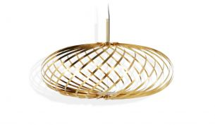 tom dixon spring pendant small brass