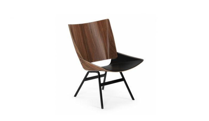 Awesome Rex Kralj Shell Lounge Chair Leather Theyellowbook Wood Chair Design Ideas Theyellowbookinfo