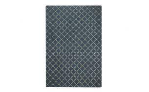 Chhatwal & Jonsson New Geometric Teppich Blue Melange / Off White
