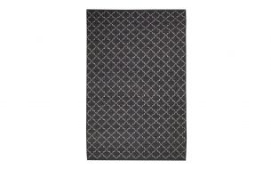 Chhatwal & Jonsson New Geometric Rug Dark Grey / Off White
