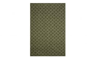 Chhatwal & Jonsson New Geometric Rug Green Melange / Off White