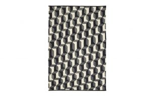 Chhatwal & Jonsson Pir Teppich Dark Grey / Charcoal Grey / White