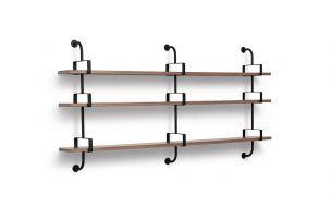 Gubi Demon Shelf with 3 Rack Stringers Walnut