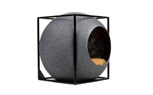 Meyou The Cube Katzenhöhle / Katzenbett | Metall | Dunkelgrau
