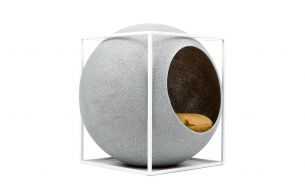Meyou The Cube Katzenhöhle / Katzenbett | Metall | Hellgrau