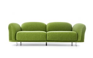 Moooi Cloud Sofa Velour moosgrün