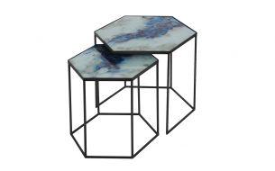 Notre Monde Cobalt Mist Organic Beistelltisch Set