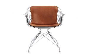 Overgaard & Dyrman Wire Dining chair chrome dark brown