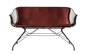Overgaard & Dyrman Wire Lounge chair chrome whiskey