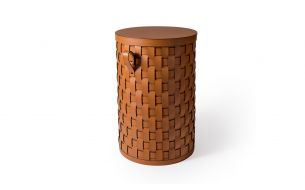 Pinetti Demetra Leather Basket | Round