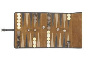 Hector Saxe Victor Travel Backgammon | Cognac