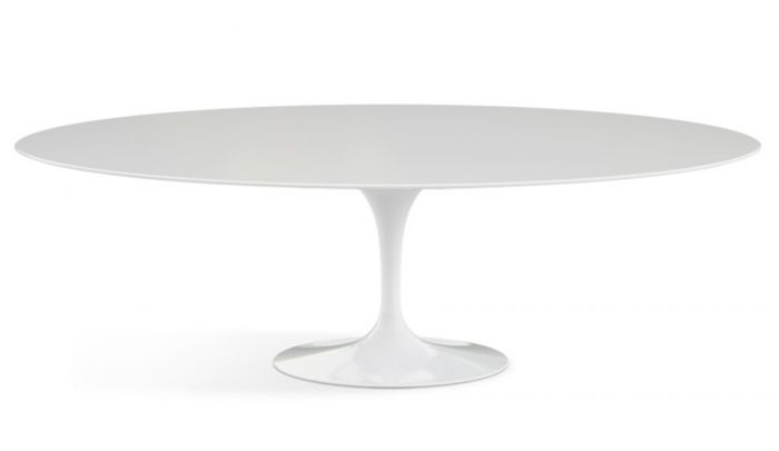 Knoll International Saarinen Tulip Dining Table Oval Dopo Domani